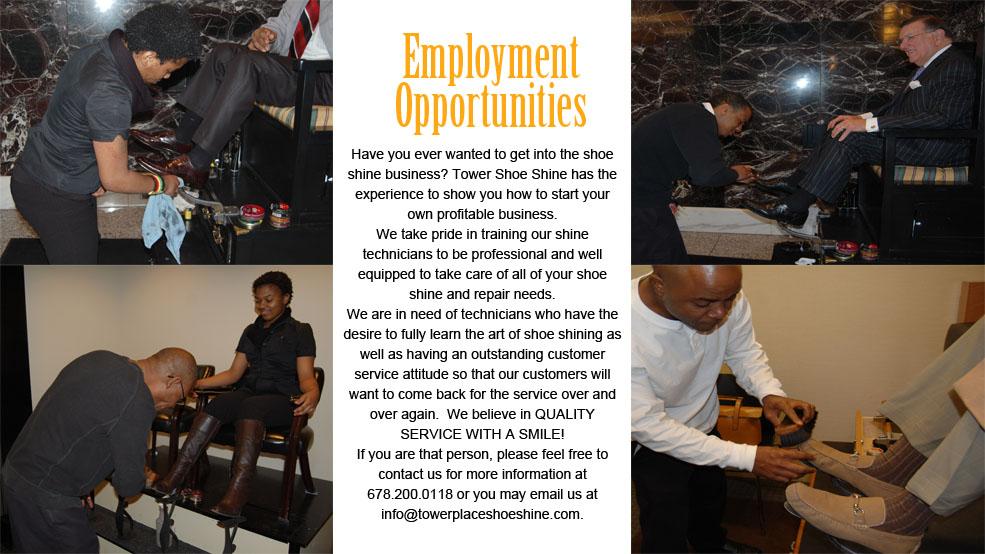 towerplaceshoeshineemployment